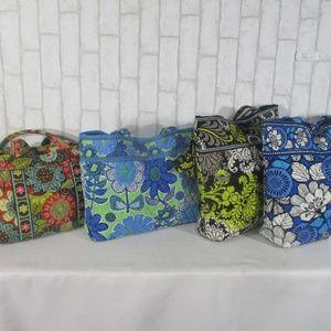 Lot 4 Vera Bradley Tote Shoulder Bag